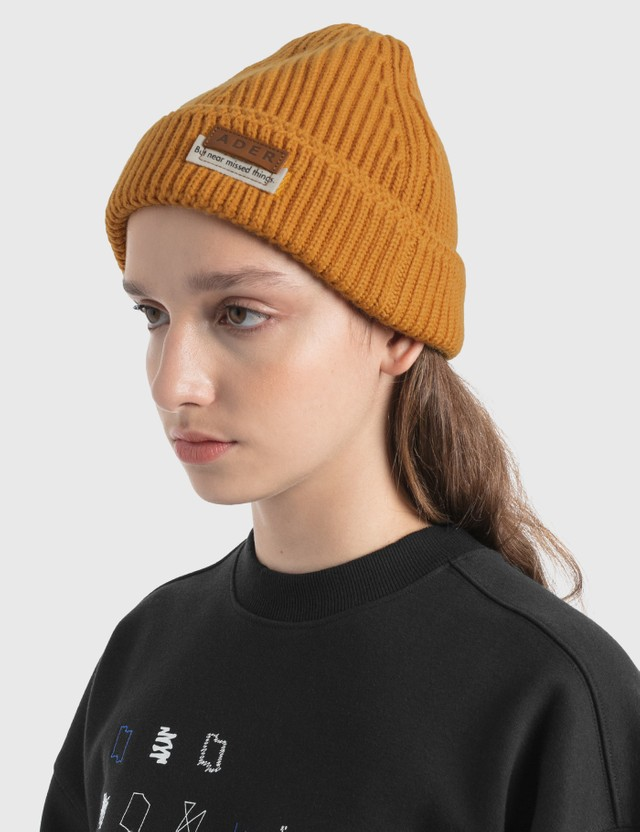 Ader Error Layered Label Beanie