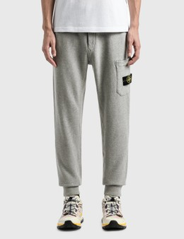 Stone Island Cotton Fleece Cargo Pants