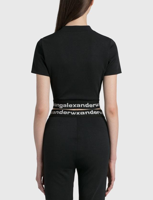 Alexander Wang.T Logo Elastic Baby T-Shirt Black Women