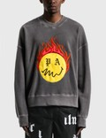 Palm Angels Burning Head Crewneck Sweatshirt 사진