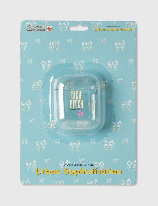 Urban Sophistication Rich Bitch AirPods Case Clear Unisex