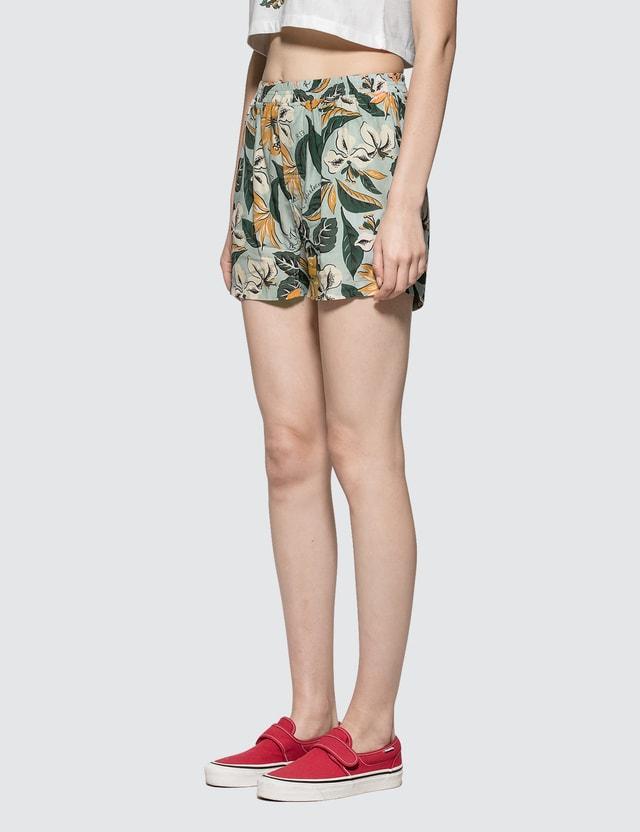 R13 Boxer Shorts Pale Blue Floral Women