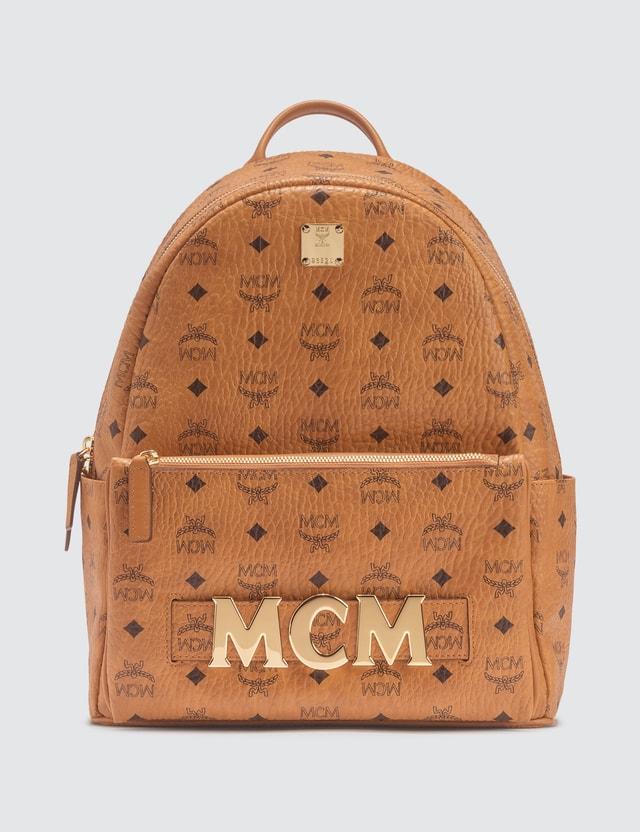MCM Trilogie Stark Backpack in Visetos