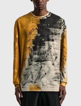 1017 ALYX 9SM Address Logo Dyed Long Sleeve T-shirt