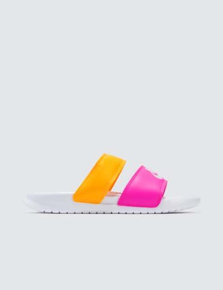 나이키 우먼스 베나시 듀오 울트라 슬라이드 - 핑크 오렌지 Nike Wmns Benassi Duo Ultra Slide