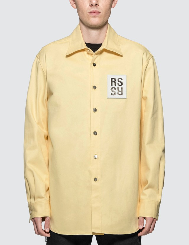 Raf Simons Logo Denim Shirt
