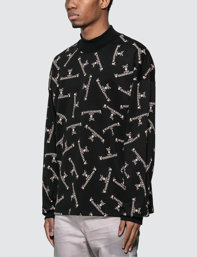 Mastermind World All Over Logo Print Sweatshirt