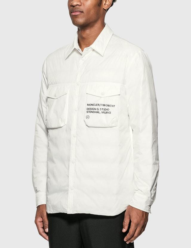Moncler Genius Moncler Genius x Fragment Design Mazen Shirt Jacket White Men