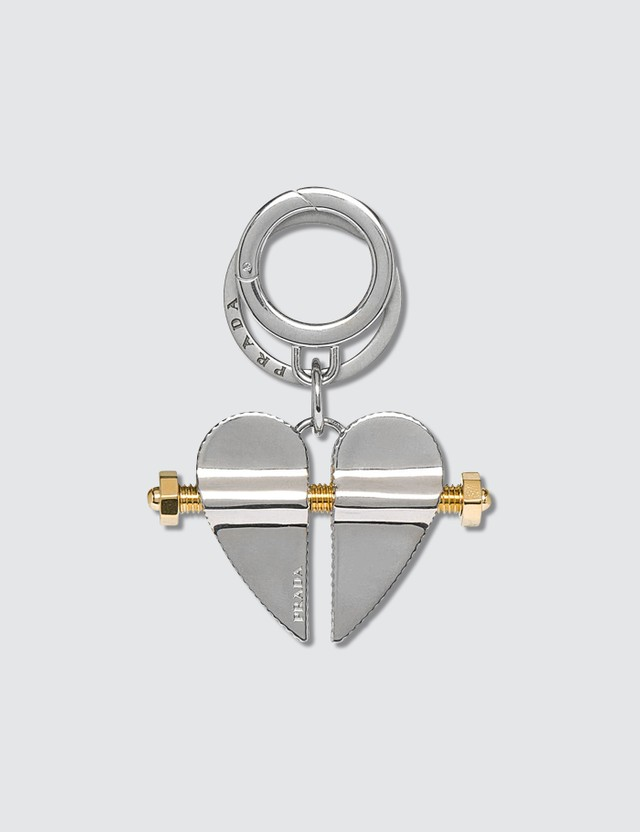 Prada Heart Key Chain