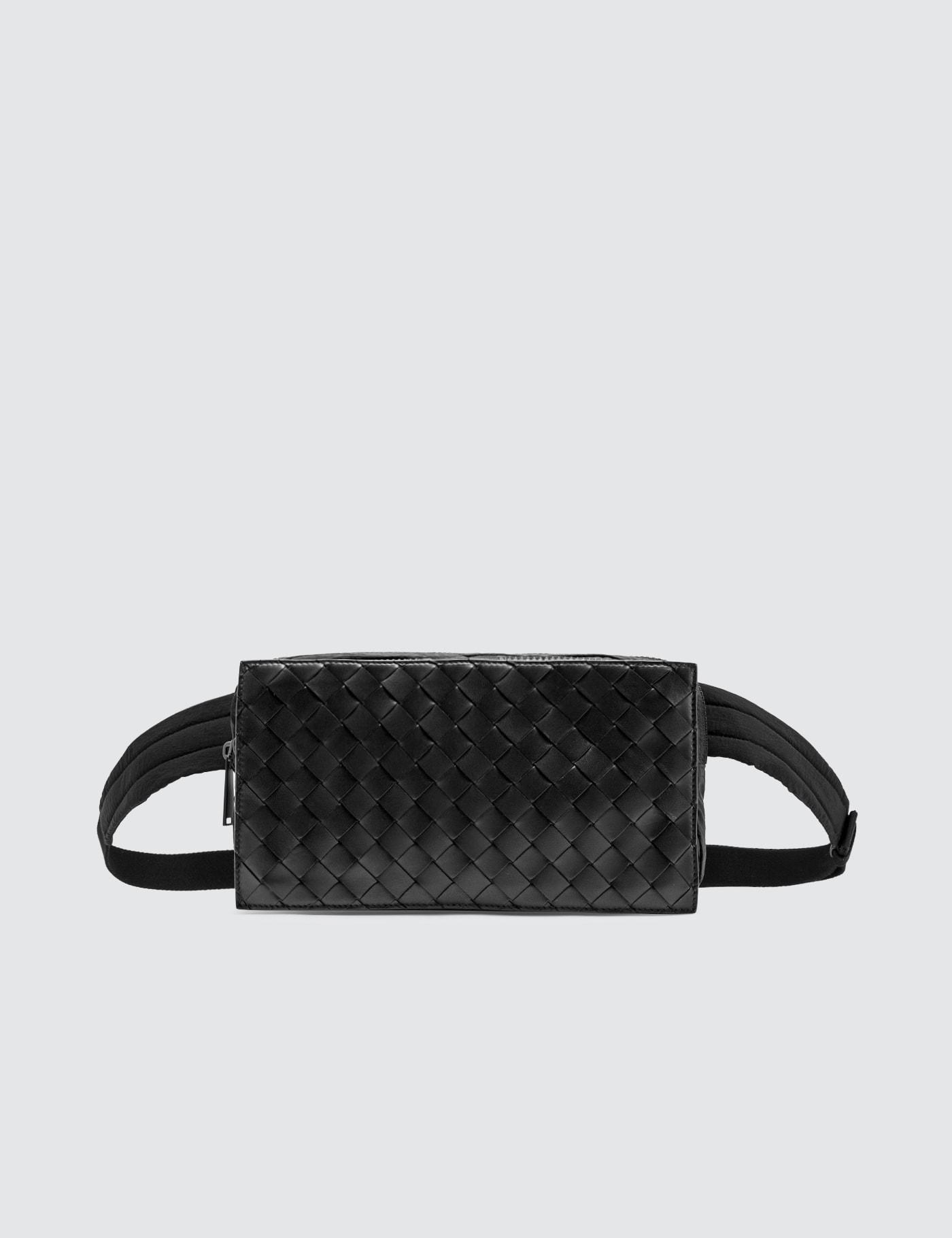 Intreciatto Leather Nylon Belt Bag