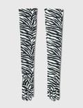 MM6 Maison Margiela Zebra Gloves Zebra Print White & Black Women