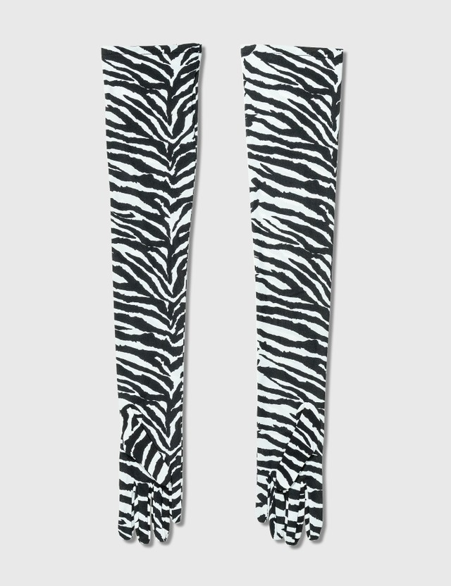 MM6 Maison Margiela Zebra Gloves