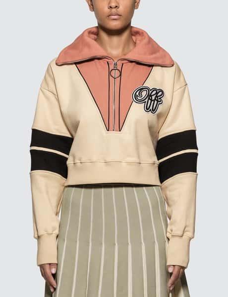 오프화이트 크롭 스웻셔츠 Off-White Intarsia Crop Sweatshirt