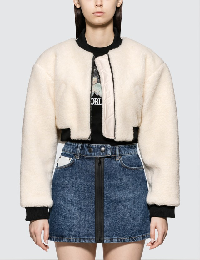 Fiorucci Arian Crop Jacket With Patch