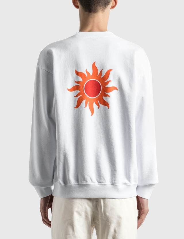 Sporty & Rich S&R Sun Crewneck White/orange & Red Print Men