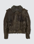 Neil Barrett Leather Jacket Brown Picture