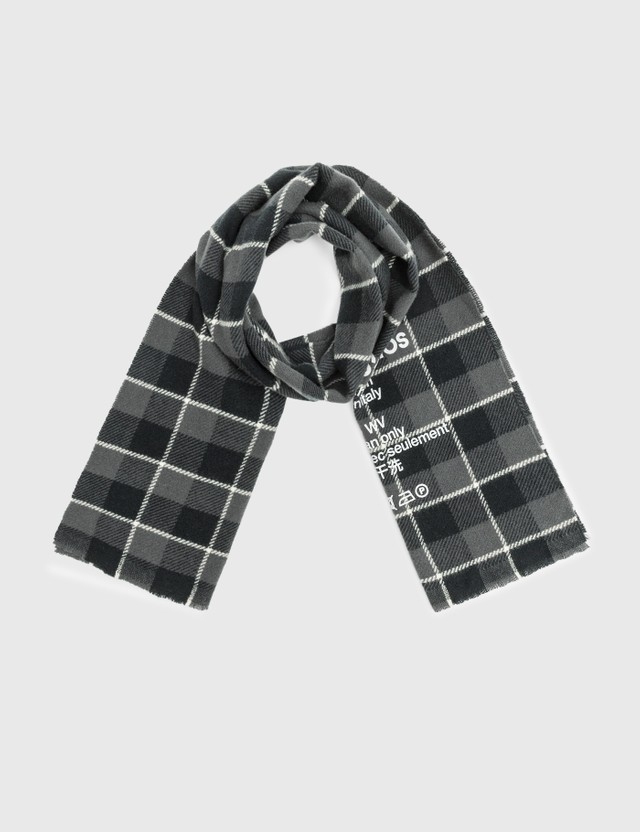 Acne Studios Cassiar Check Narrow Scarf Black Men
