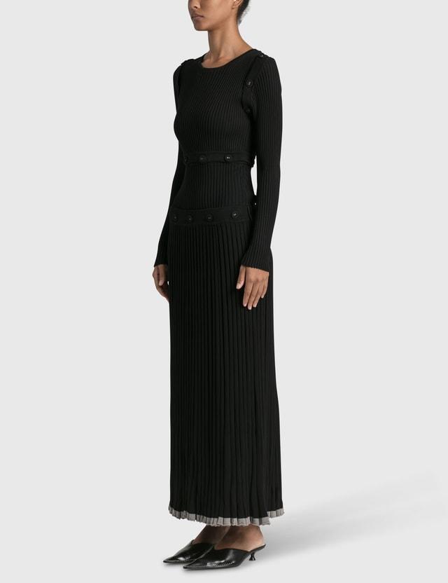 Christopher Esber Deconstruct Longsleeve Knit Dress Black Women