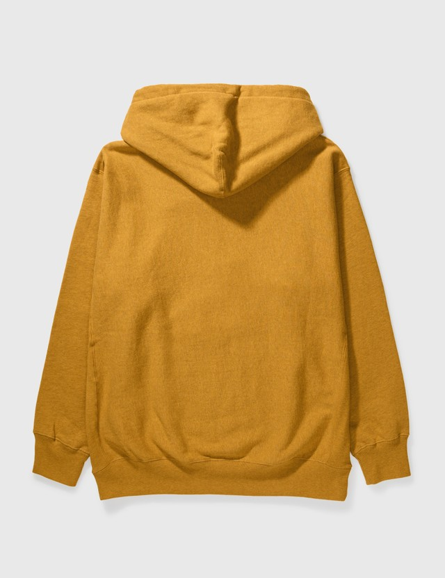 RAW EMOTIONS In the Mood Reverse Weave Hoodie Mustard Men