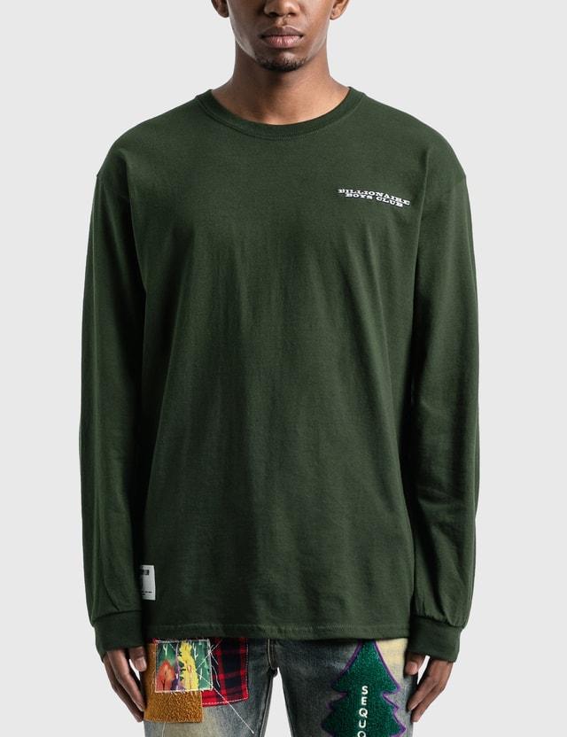 Billionaire Boys Club Paisley Dollar Long Sleeve T-Shirt Forest Green Men