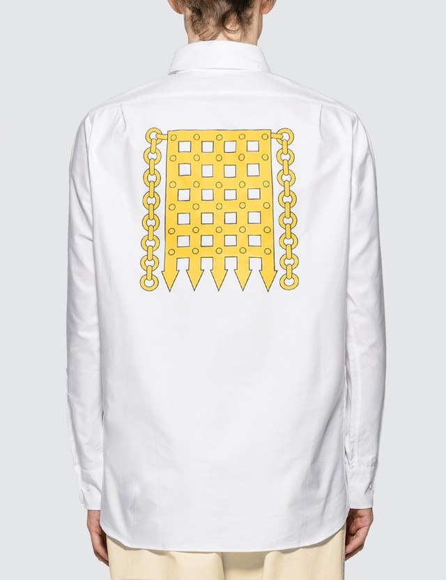 Rowing Blazers White Portcullis Oxford Shirt