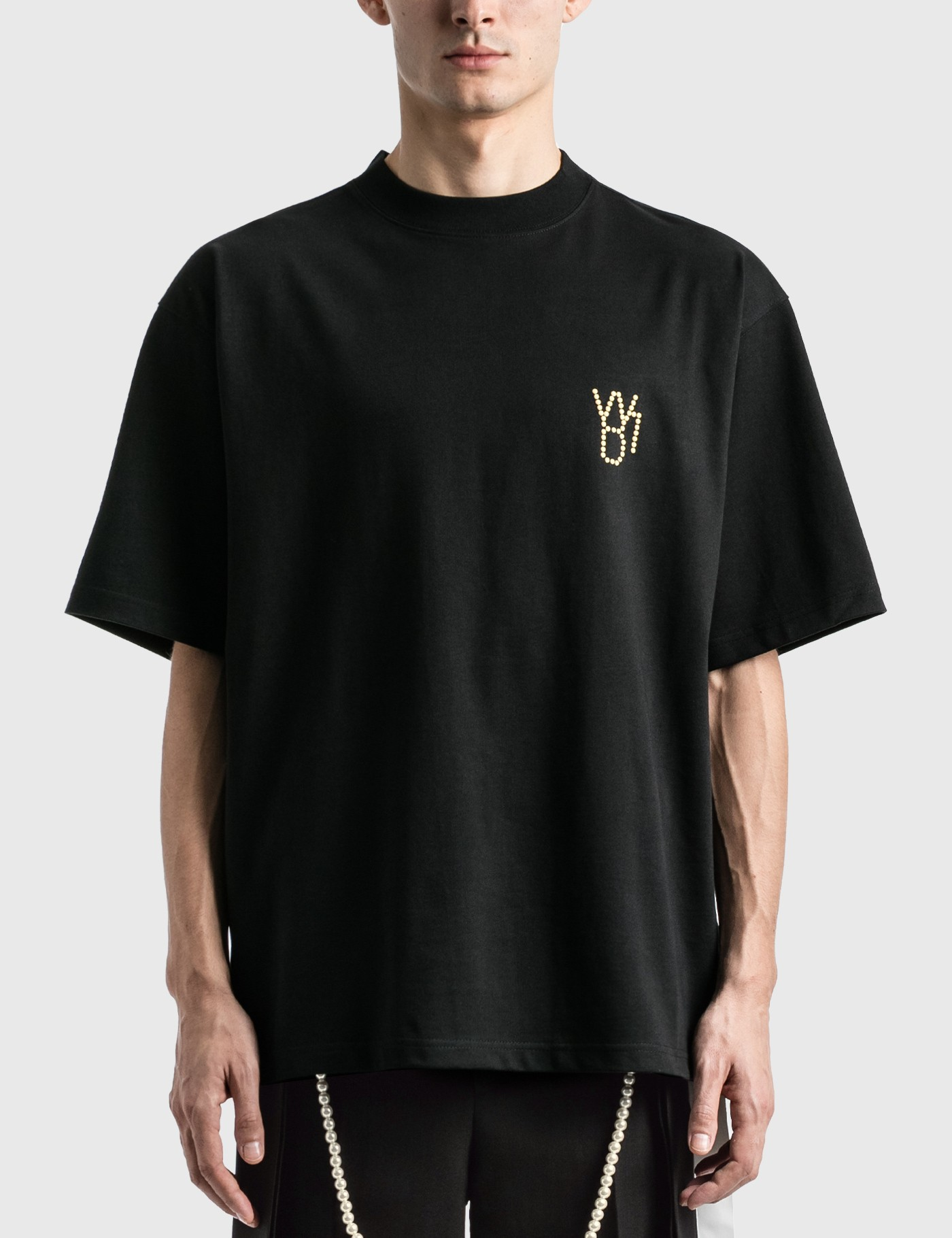 We11 Done PEARL LOGO T-SHIRT