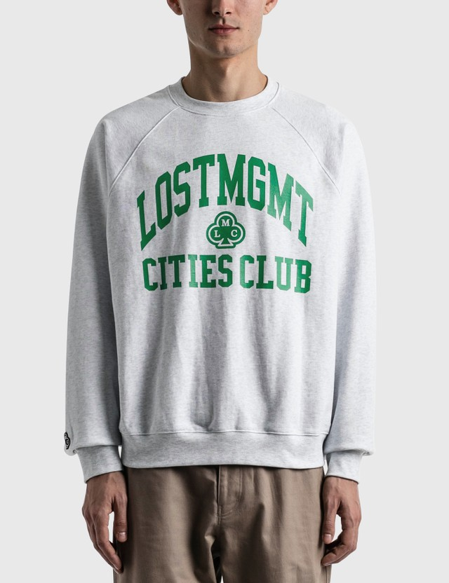 LMC Club Athletic Raglan Sweatshirt Light Heather Gray Men