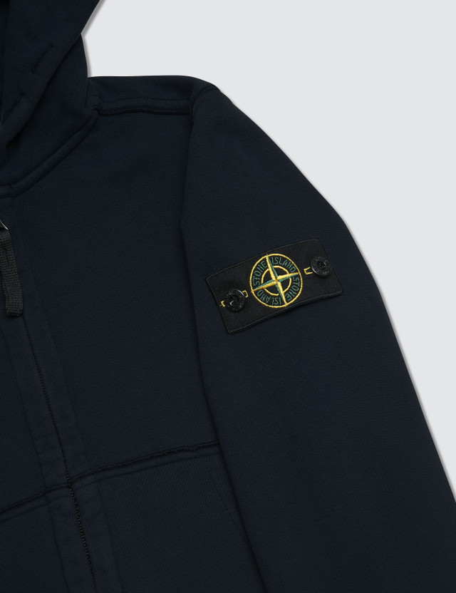 Stone Island Basic Zip Up Kids Hoodie