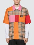 Burberry Colour Block Vintage Check Cotton Shirt Picture