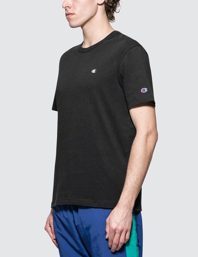 Champion Reverse Weave Back Script Logo S/S T-Shirt Black Men