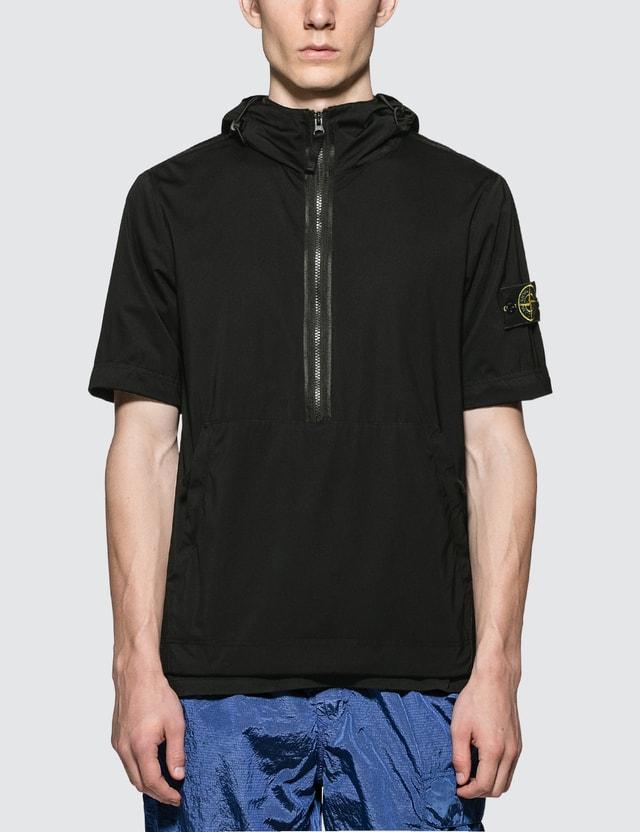 Stone Island 2-Way Garment Dyed Nylon Jersey-R Anorak