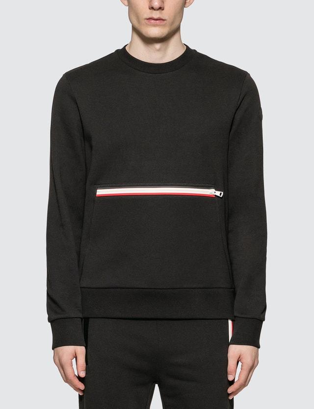 Moncler Girocollo Sweatshirt Black Men
