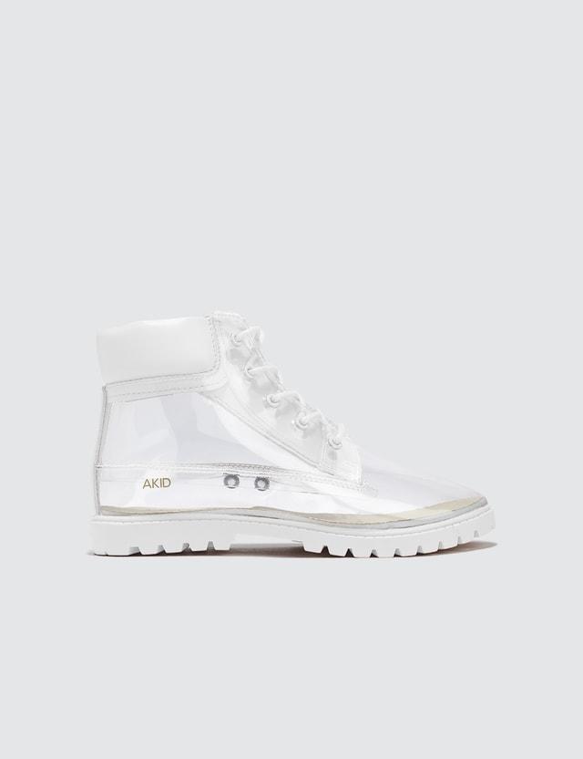 AKID Atticus TPU Boots White/clear Kids