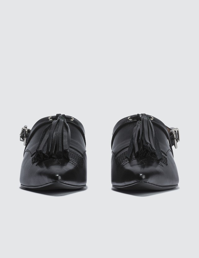 Toga Pulla Leather Mules With Tassel