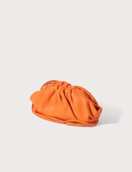보테가 베네타 만두 동전 지갑 - 라이트 오렌지 Bottega Veneta Coin Purse