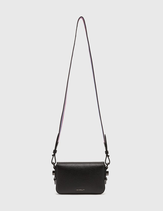 Off-White Diag Mini Flap Bag Black White Women