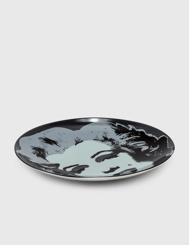 Ligne Blanche Andy Warhol Black Marilyn Limoges Porcelain Plate Black Men
