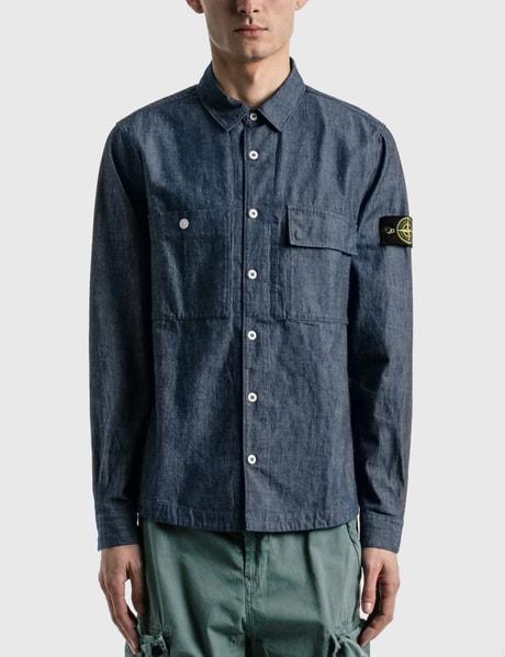 스톤 아일랜드 Stone Island Chambray Denim Shirt