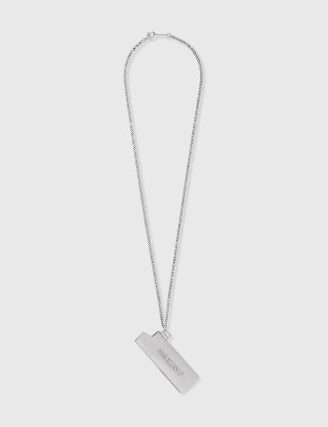 Ambush Logo Lighter Case Necklace Silver Men