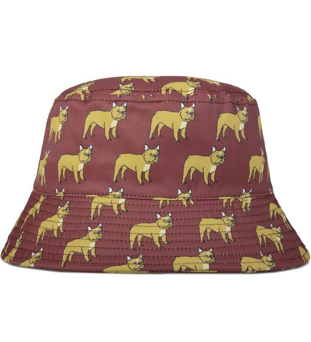 Dog LTD. Burgundy French Bulldog Bucket Hat