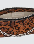 BY FAR Mini Rachel Leopard Print Suede Leather Bag