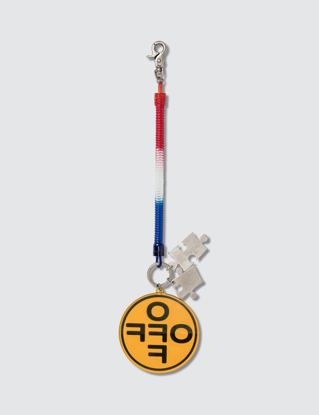 Off-White Cross Bungee Key Ring Red Orange Men