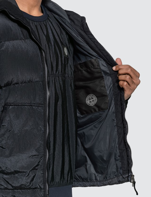 Stone Island Nylon Ripstop Hooded Down Jacket