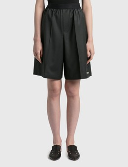 We11done Elasticated Wool Blend Shorts