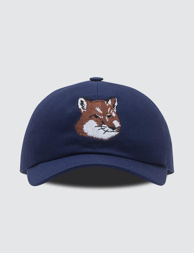 Maison Kitsune Large Fox Head Embroidery 6 Panel Cap