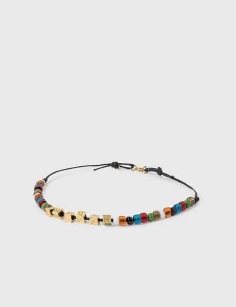 Ambush Letter-Block & Beads Necklace