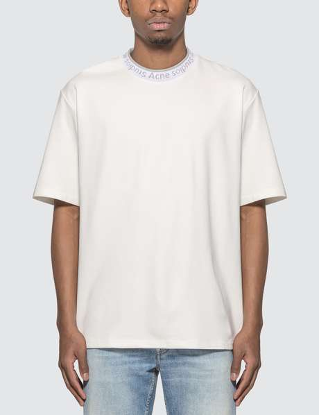 아크네 스튜디오 Acne Studios Logo Neck T-Shirt