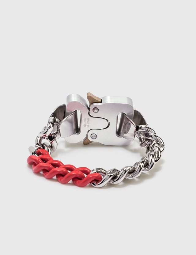 1017 ALYX 9SM Colored Links Buckle Bracelet Silver/red Women