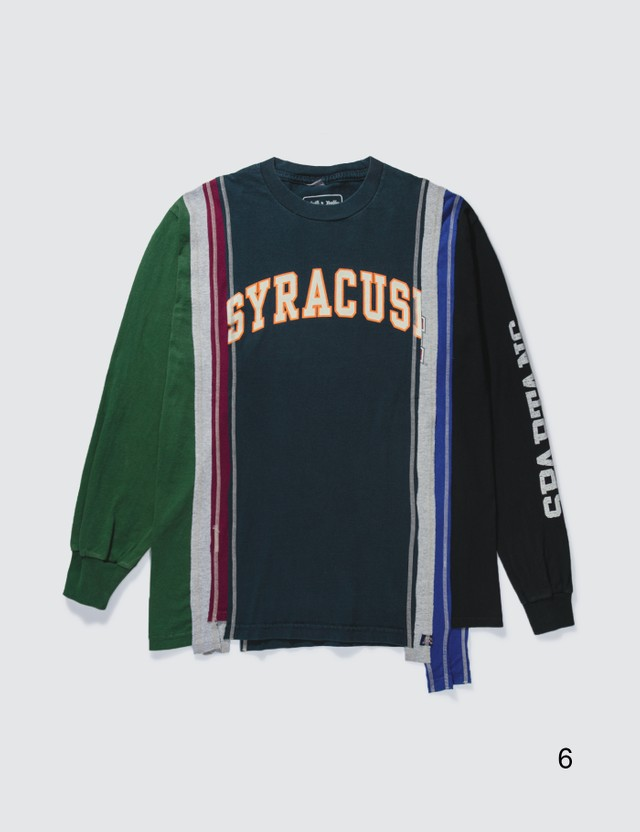 Needles 7 Cuts College Long Sleeve T-shirt Multicolor Men