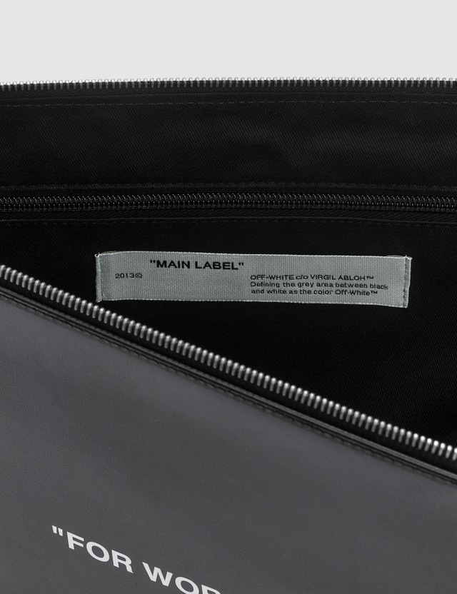 Off-White Quote Document Folder